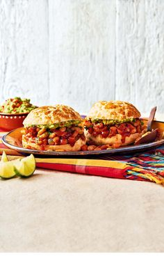 Veggie sloppy Josés - Full of fiery Mexican flavour, this twist on the classic sloppy Joe is quick, easy and ideal for veggies. Find the recipe in our August 2017 issue.