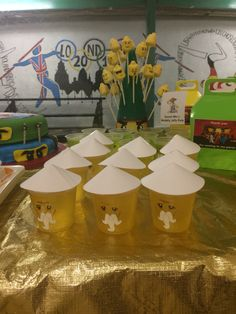 Sensei Wu (Ninjago) themed jelly/jello pots Ninjago birthday party