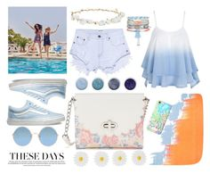 """""""blueee"""" by aneukrfl on Polyvore featuring Jaeger, One Teaspoon, Vans, Candie's, Robert Rose, Lilly Pulitzer, Monsoon, Sunday Somewhere, New Look and Terre Mère"""