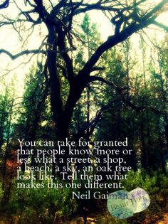 Tell them what makes this one different. - Neil Gaiman