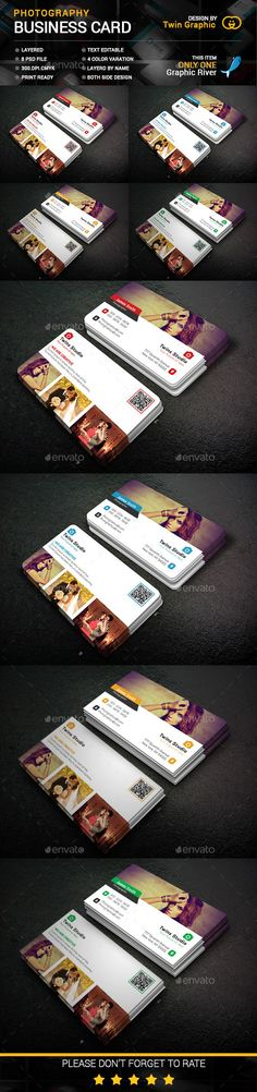 Photography Business Card Design Template PSD #design Download: http://graphicriver.net/item/photography-business-card-design/14218062?ref=ksioks