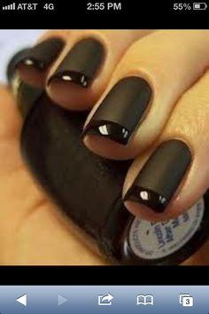 Black Matte Finish Nails! LOVE!