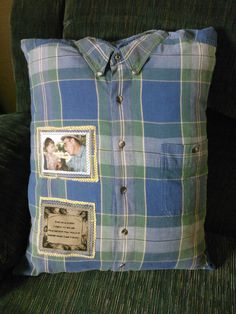 Add a Photo Patch To Your Memory Pillow- Elk Country Designs - Linda Dhaseleer. Diy PillowsPillows From ShirtsPhoto ... & memory pillows from clothing | Photo: How to order a Keepsake ... pillowsntoast.com