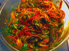 На кухне у Алика. Alex's Kitchen.: Корейский баклажанный салат.Korean Eggplant Salad.