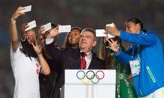 El presidente del Comité Olímpico Internacional en los Juegos Olímpicos de la Juventud, en agosto en China.