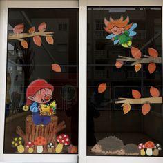 CEI La Cometa. Otoño 2015 Fall Window Decorations, Fall Decor, Preschool Door, Preschool Crafts, Diy And Crafts, Crafts For Kids, Paper Crafts, Aesthetic Names For Instagram, School Board Decoration