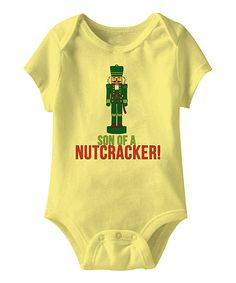 Banana 'Son of a Nutcracker' Bodysuit: Because who doesn't want their child to where Elf quotes?