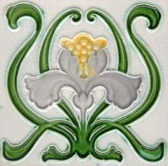 ornaments-of-the-world: Majolica - Art Nouveau by Andrea Speziali Vintage Tile, Vintage Pottery, Azulejos Art Nouveau, Art Decor, Decoration, Design Art Nouveau, Wessel, Jugendstil Design, Art Nouveau Tiles