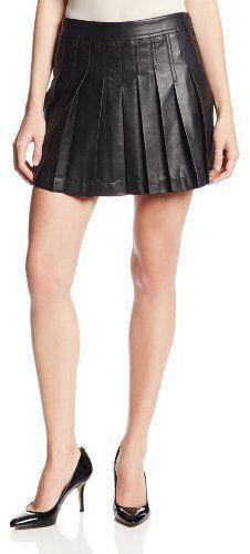 BCBGMAXAZRIA Women's Shane Pleather Pleated Skirt on shopstyle.com