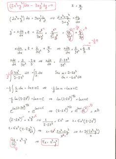 Solución del ejercicio 3 de ecuaciones diferenciales homogéneas