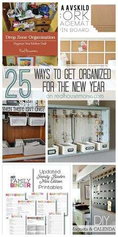 25 Ways to Get Organized for the New Year  Real Housemoms
