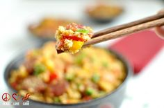 "Chinese Sausage Fried ""Rice"" - Low Carb, Gluten Free 