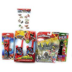 Power Ranger Mixx Morph Black T-Rex Rangerzord Plus Walkie Talkies Flashlight PEZ Tattoos ** Check out this great product. (This is an affiliate link) #ActionFiguresStatues