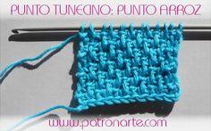 Hoy vamos a añadir un nuevo punto a nuestros conocimiento de crochet: punto arroz en ganchillo tunecino.