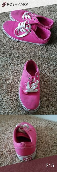 Pink vans Bubblegum pink vans, a tad bit dirty but, it's nothing scrubbing them with soap and water can't fix. Vans Shoes Sneakers