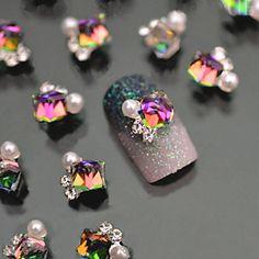 $3.59 2 Pcs Flower Nail Studs Pearl 3D Nail Decoration For UV Gel Nail Art - BornPrettyStore.com
