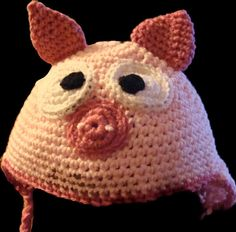 Hat Pig Kids by TheEnchantedSlipper on Etsy, $15.00