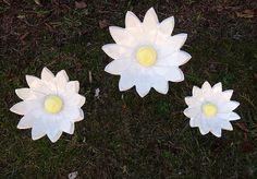 Blume+Margerite+Keramik+Frostfest+Unikat+von+Kleine+Töpferei+auf+DaWanda.com