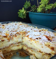 Greek Sweets, Greek Desserts, Summer Desserts, Greek Recipes, Cookbook Recipes, Dessert Recipes, Cooking Recipes, Sweet Pastries, Pavlova