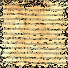 FREE Digital Scrapbook Paper - Vintage Sheet Music ~ Also comes in blue, green and pink! Great for scrapbooks, decoupage and crafts.