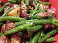 Roasted Potatoes and String Beans