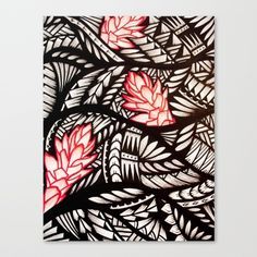 Red-colored Ginger Poly Design one Canvas Print by Lonica Photography & Poly Styles Samoan Designs, Polynesian Designs, Hawaiian Designs, Polynesian Art, Tattoos For Women Flowers, Flower Tattoos, Hawaiian Legends, Simple Flower Drawing, Polynesian Tattoos Women