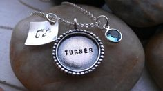Push present hand stamped personalized baby name by thecharmedwife, $60.00