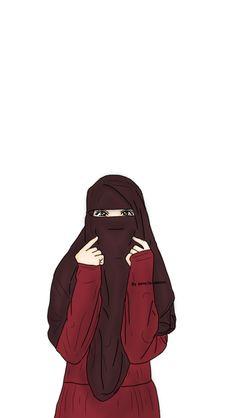 Cartoon Girl Drawing, Girl Cartoon, Deviantart Drawings, Hijab Drawing, Islamic Cartoon, Anime Muslim, Hijab Cartoon, Cute Couple Art, Islamic Girl