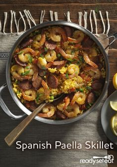 This delicious but easy version of the classic grilled rice dish from Spain has shrimp and Andouille sausage over a bed of saffron rice with Ro*Tel® to give it just the right kick