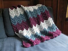 Ravelry: Project Linus Security Blanket pattern by Project Linus. A modified feather and fan baby blanket.