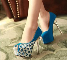 peacock feathers, prom shoes, fashion shoes, color, heel, latest fashion, woman shoes, pump, blue shoes