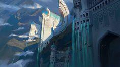 Lighthouse by Thomas Stoop : ImaginaryLandscapes Fantasy City, Fantasy Castle, Fantasy Places, Medieval Fantasy, Fantasy World, Marble City, Fantasy Concept Art, Fantasy Setting, Fantasy Paintings