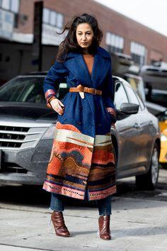 Attendees at New York Fashion Week Fall 2017 - Street Fashion