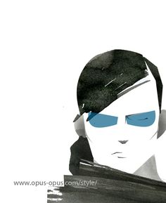 Mens Sunglasses fashion illustration