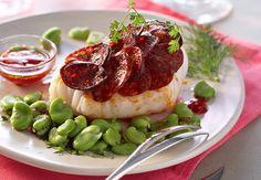 Cabillaud au chorizoVoir la recette du Cabillaud au chorizo >>