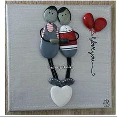 Art#galets#peinture#couple#mesuivre#followme#love#jetaime#