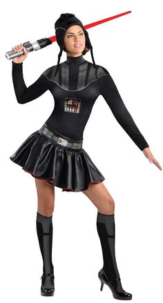 Sexy Star Wars Darth Vader Adult Womens Costume - 298042