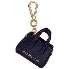 MICHAEL Michael Kors Selma Key Chain ($68) ❤ liked on Polyvore featuring bags, handbags, miniature purse, white mini bag, saffiano leather bag, saffiano leather handbag and mini bag