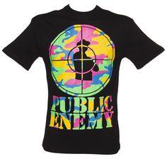 Men's Premium Charcoal #Neon #Camo Public Enemy Logo T-Shirt from #Amplified #Vintage xoxo