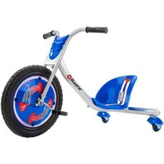 Boys-Drifting-Trike-by-Razor-RipRider-360turn-Inclined-Casters-Double-Crown-fork