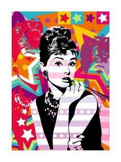 Pop Art Audrey Hepburn  #Bonequinha de Luxo #Audrey Hepburn #Breakfast at Tiffany's  #ilustrações #Illustration #arte #art #desenho #print #Graphics #Watercolor #Croquis #inspiration #inspiração #design #FashionIllustration  #FashionPrint #FashionGraphics #ladies #FashionGirls  | Lobo | Audrey Hepburn by Lobo - Pop Art