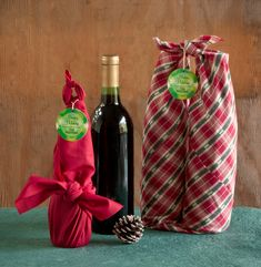 Holiday How-To: Furoshiki Gift Wrap from My Own Ideas blog. #christmas #holiday #gift #diy