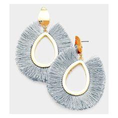 Flutter Tassel Earrings ($23) ❤ liked on Polyvore featuring jewelry, earrings and tassel earrings