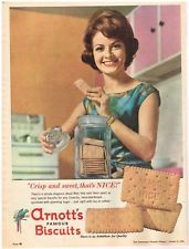 ARNOTTS NICE BISCUITS AD Original 1960s Vintage Print Ad SSV11