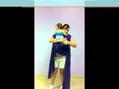 How to do a front carry with a BabyEtte gauze wrap