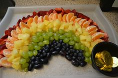 ...this rainbow fruit platter.