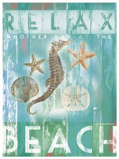 relax on the beach art print