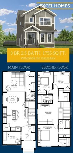 3 Bedroom Floorplan, View more of this home Windsor 3 bedroom bathroom SQ. This home is cozy and perfect for your first home for you and your small family! Small House Floor Plans, Sims House Plans, House Plans One Story, Family House Plans, Country House Plans, New House Plans, Dream House Plans, 3 Bedroom Home Floor Plans, Metal House Plans