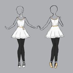 ::Commission by Scarlett-Knight - Anime OC - Anime Kimono, Anime Dress, Clothing Sketches, Dress Sketches, Dress Drawing, Drawing Clothes, Fashion Design Drawings, Fashion Sketches, Manga Posen