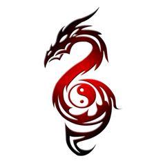 Výsledek obrázku pro dragon yin yang symbol